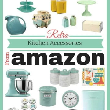 Looking for Retro kitchen accessories? Here's a list of 21 accessories in blues and green that you can find on Amazon.