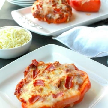 Pizza Stuffed Peppers with Sausage and Pepperoni 11 scaled