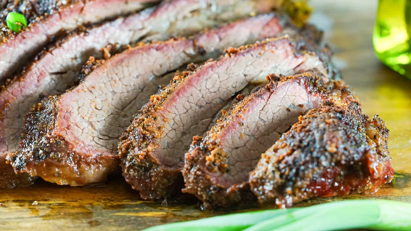 Let rest for at least 30 minutes. Slice against the grain for best results and enjoy the juicy, tender smoked tri-tip!