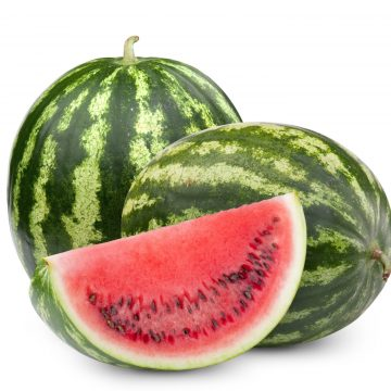 two pieces of watermelon and half slice of watermelon