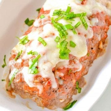 keto meatloaf woth stuffed cheese